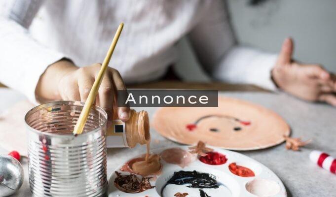 Barn maler billede